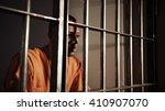 african american man in prison  ... | Shutterstock . vector #410907070