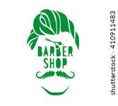 vector hipster barber shop logo ... | Shutterstock .eps vector #410911483