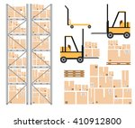 vector warehouse icon.... | Shutterstock .eps vector #410912800