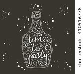 time to party. hand drawn...   Shutterstock .eps vector #410916778