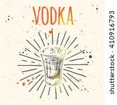 vodka. hand drawn vector... | Shutterstock .eps vector #410916793