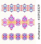 isolated crocheted lace border... | Shutterstock .eps vector #410918329