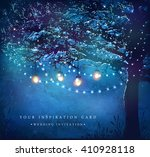 hanging decorative holiday... | Shutterstock .eps vector #410928118