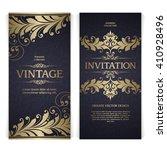 vector set of vintage template... | Shutterstock .eps vector #410928496