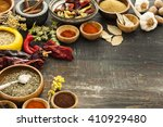 various spices on vintage board | Shutterstock . vector #410929480