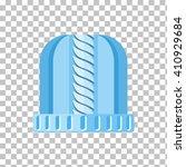 winter blue wool hat icon.... | Shutterstock .eps vector #410929684