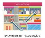 shopping center buiding design. ... | Shutterstock .eps vector #410930278