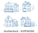 set of different houses ... | Shutterstock .eps vector #410936260