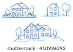 set of three different houses ... | Shutterstock .eps vector #410936293