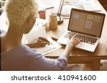 african woman working design...   Shutterstock . vector #410941600