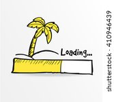 loading bar. palm on the...