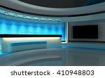 blue studio. tv studio. news... | Shutterstock . vector #410948803