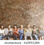 diversity people connection... | Shutterstock . vector #410951284