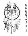 detailed mystical dreamcatcher... | Shutterstock . vector #410951380