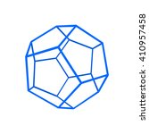 dodecahedron carcass framework... | Shutterstock .eps vector #410957458