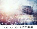 double exposure photo.man...   Shutterstock . vector #410963434