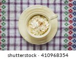 coffee cup view from above | Shutterstock . vector #410968354