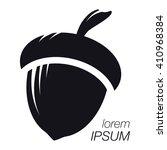 acorn logo. silhouette acorn....