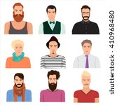 vector male man character faces ... | Shutterstock .eps vector #410968480