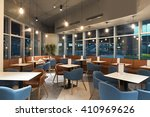 Stock photo restaurant in modern office building 410969626