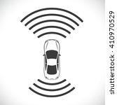 driverless robotic car shape... | Shutterstock .eps vector #410970529