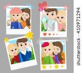 photo frame stick for selfie.... | Shutterstock .eps vector #410971294