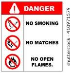 no smoking  no open flame  fire ... | Shutterstock .eps vector #410971579