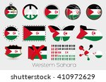 many different styles of flag... | Shutterstock .eps vector #410972629