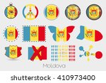 many different styles of flag... | Shutterstock .eps vector #410973400