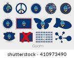 many different styles of flag... | Shutterstock .eps vector #410973490