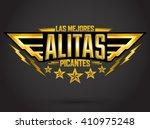 alitas picantes las mejores  ... | Shutterstock .eps vector #410975248