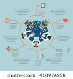 medical infographics with team... | Shutterstock .eps vector #410976358