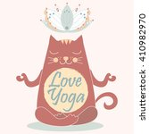 cute yoga cat yoga cat position ... | Shutterstock .eps vector #410982970