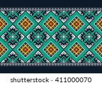 geometric ethnic oriental... | Shutterstock .eps vector #411000070