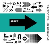 vector arrow sign icon set  | Shutterstock .eps vector #411008758