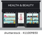cosmetics store building and... | Shutterstock .eps vector #411009850