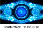 blue abstract hi speed internet ... | Shutterstock .eps vector #411010840