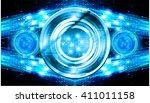 blue abstract hi speed internet ... | Shutterstock .eps vector #411011158