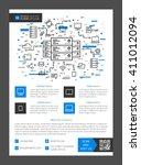 flyer  leaflet  layout vector... | Shutterstock .eps vector #411012094