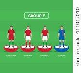 figurine football  soccer  ... | Shutterstock .eps vector #411015010