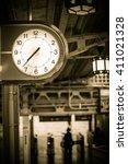 Clock At Japanese Train Statio...