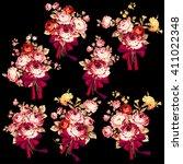 rose flower illustration    Shutterstock .eps vector #411022348