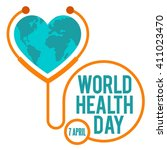 world health day poster template | Shutterstock .eps vector #411023470