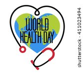 world health day poster template | Shutterstock .eps vector #411023494