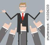 businessman feedback | Shutterstock .eps vector #411026233