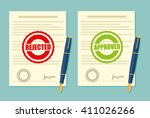 rejected and approved stamp in  ... | Shutterstock .eps vector #411026266