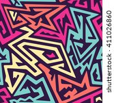 curved lines pattern | Shutterstock .eps vector #411026860