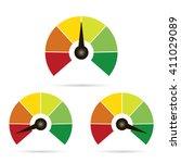 set of measuring icons easy... | Shutterstock .eps vector #411029089