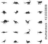 silhouette dinosaur and... | Shutterstock .eps vector #411033808