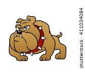 brown bulldog vector... | Shutterstock .eps vector #411034084